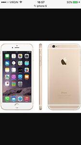 iPhone 6, 64 gig gold, unlocked