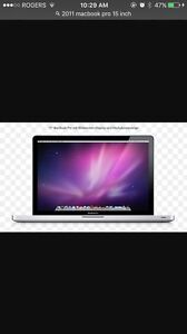 2011 MacBook Pro 15 inch w brand new charger
