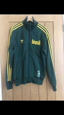 Men's vintage adidas tracksuit top All Time Greatest Brazil Brasil 1970 Size M
