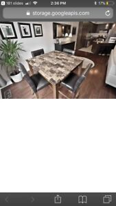 Kitchen table with 4 bar stools