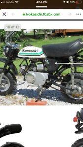 Kawasaki kv75 mini bike