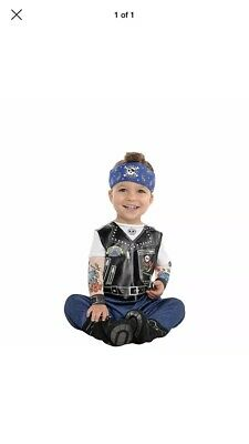 Boys Biker Costume (Baby Biker Infant Costume 0-6)