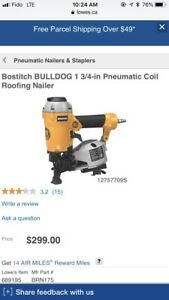 Bostitch brn175 roofing nailer - Brand new !!