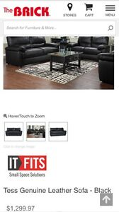 3 PC leather living room set 1400$ obo