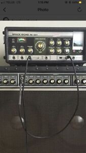 Roland re-201 space echo with original footswitch