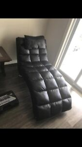 Leather chaise chair