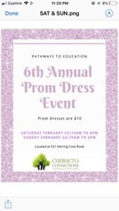 Pathways prom  dress event $10 a dress