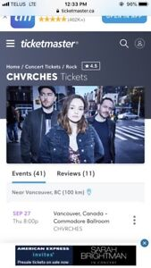 CHVRCHES Vancouver Tickets.