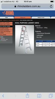 Rhino industrial dual purpose ladder  $70