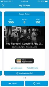 Foo fighters tickets Vancouver Rogers arena
