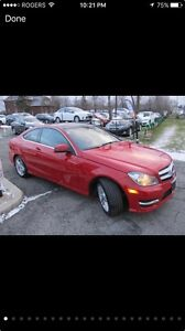 Mercedes C 250 coupe red