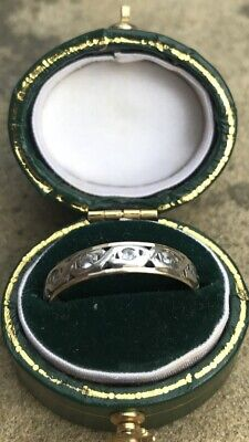 Vintage Gold And Silver Eternity Ring