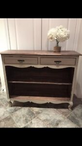 Shabby chic, rustic hall console table