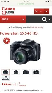 Gently used Cannon  PowerShot Sx540 HS