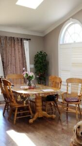 Excellent condition wood dining set