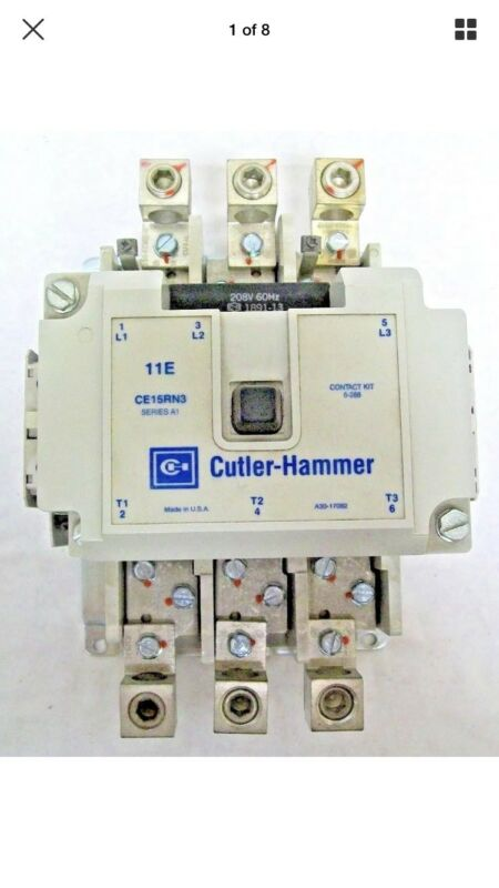 EATON CUTLER HAMMER CE15RN3B 208volts 200Amp Size R IEC Contactor Freedom Series