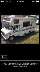 1987 Chevrolet Citation  Vandura 3500 motor home inspected