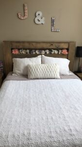 QUEEN BED FRAME WITH MATCHING NIGHT STANDS
