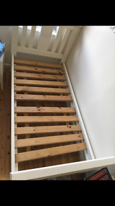 White Single Bed Frame Elanora Heights Pittwater Area Preview