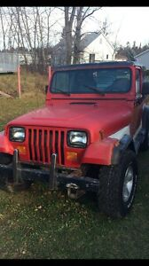 94 jeep yj. Needs to go