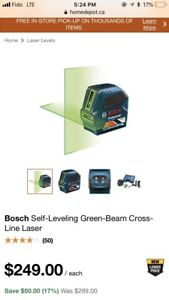 Bosch self leveling green lasers - Both available