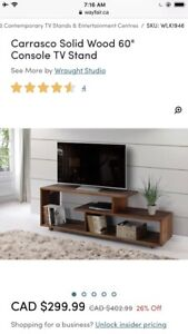 """Carrasco 60"""" Solid Wood Console TV Stand"""