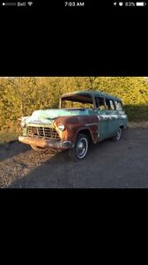 Rare 1955 Chevy Suburban carry all