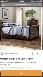 Restoration Hardware KingSize Bed with Kingsdown Mattress