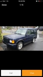 Land Rover Discovery II 2001. 7 seats.