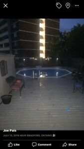 22' by 22' above ground pool