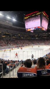 Oilers tomorrow night DIRT CHEAP!! AISLE SEATS—2 or 3 in a row