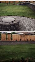 Landscaping - retaining walls and patio stone