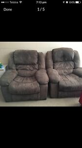 2 Suede Recliners Taranna Tasman Area Preview