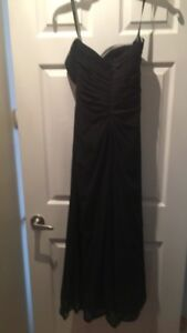 Formal black strapless gown