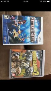 Wii and PS3 games