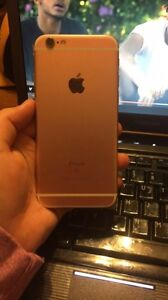Cracked iPhone 6s rose gold