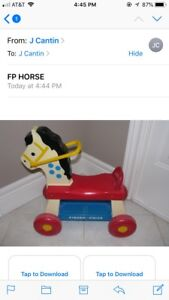FOR SALE:  VINTAGE FISHER PRICE TOYS