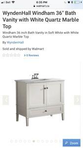"36"" Bathroom vanity - brand new, in box"