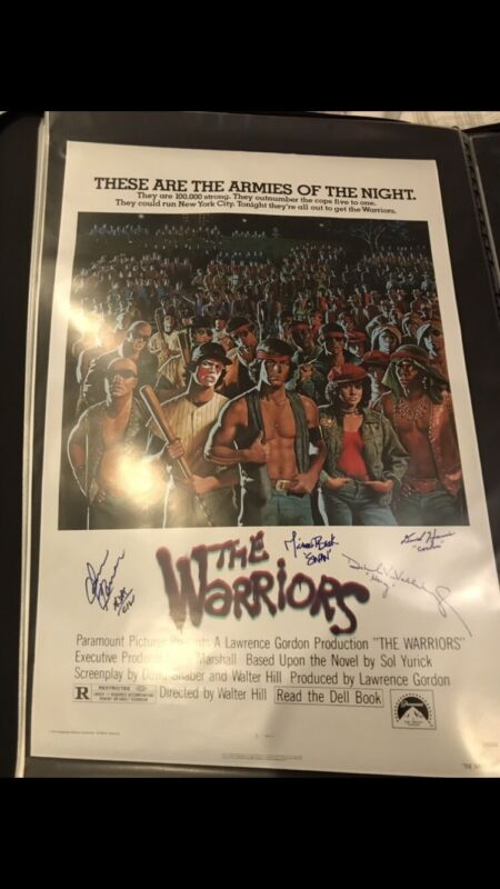The Warriors Signed Movie Poster