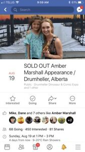 4 Amber Marshall meet and greet tickets