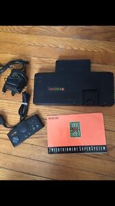 Turbografx 16, manual, power cord and controller