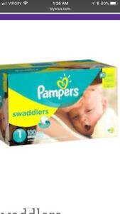 Pampers swaddles size 1 diapers (new for lower price)