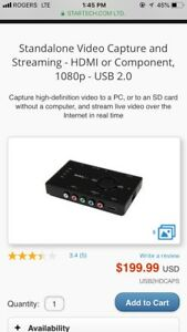 Video Capture and Streaming - HDMI/Component, 1080p - USB 2.0