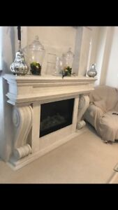 Fireplace stone cast surrounds