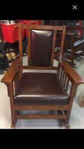 2 ea mission style rocking chairs  price per each