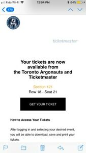 Argos Home Opener Ticket for Sale!