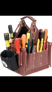 Occidental leather electrician tool bag.