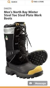 Winter steal toe work boots