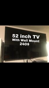 52 Inch Insignia TV With wall mount