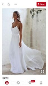 Beachy Boho Wedding Dress Size 6 8
